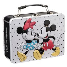 Mickey And Minnie Mouse Large Tin Tote