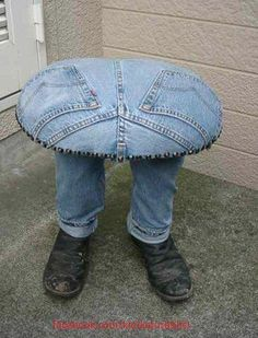 How funny! Denim whimsey I really need to make one of these! So cool!