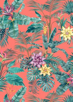 Dress up your tech tropical pattern, tropical design, tropical prints, vector pattern, Print Wallpaper, Trendy Wallpaper, New Wallpaper, Pattern Wallpaper, Wallpaper Backgrounds, Wallpapers, Interior Wallpaper, Tropical Design, Tropical Pattern