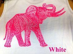 Hot Pink Elephant Tank!! ADORABLE!