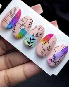 Diy Nails, Swag Nails, Cute Nails, Pretty Nails, Art Deco Nails, Nagellack Design, Nail Art Designs Videos, Best Acrylic Nails, Disney Acrylic Nails