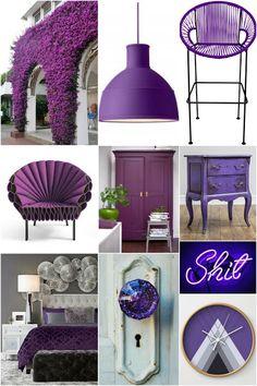 Ultra viotet Pantone 2018 decor