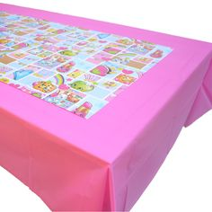 OMG! Make an amazing Shopkins Party Table with this Table Cover Paper Sheets Set