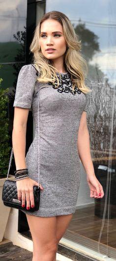 e1d7c266d Vários modelos de vestidos curtos (20 fotos!)