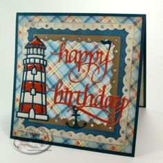 Kathy Jo Woods is on our blog with a sea-inspired birthday card. All you need is Quietfire Design A Way With Words' Happy Birthday 2 die set, the Lighthouse die set from Joset Designs, Els van de Burgt Studio's Fitted Frames 2 Lace Squares and Clear Double Sided Adhesive. Read more: http://wp.me/p4kQzc-40t