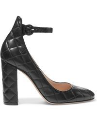 Gianvito Rossi - Quilted Leather Pumps - Lyst