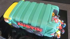 Garbage Truck Cake 5th Birthday Cake, Birthday Ideas, Birthday Parties, James 5, Truck Cakes, Garbage Truck, Cakes For Men, Party Cakes, Cake Ideas