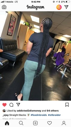 Transition Hair Styles Protective Hairstyles For Natural Hair, Braided Hairstyles For Black Women, African Braids Hairstyles, Natural Hair Styles, Short Hair Styles, Straight Back Cornrows, Long Cornrows, Long Braids, Black Girl Braids