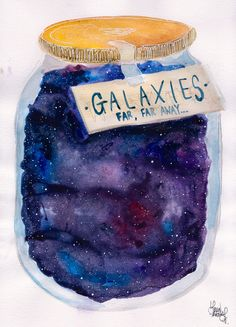 I have always loved the look of watercolor galaxies...