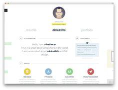 BateauxMinimalResumeVcardWebsiteTemplate  Personnal Branding