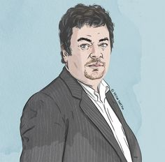 David Aaronovitch portrait, by Vector That Fox