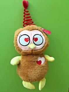 Valentine Plush Owl Dancing Singing You Spin Me Right Round See Video Goffa #Goffa