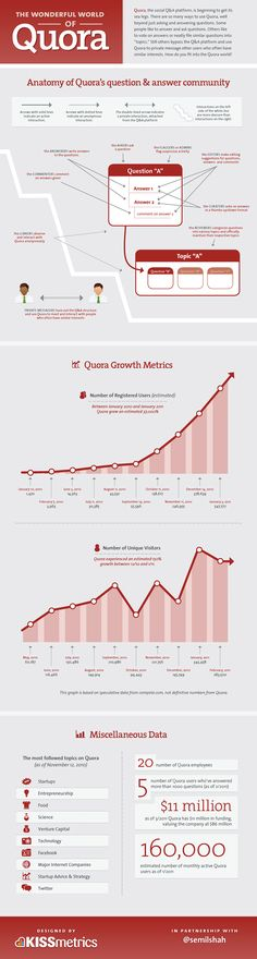 Infographic : The Wonderful World of Quora