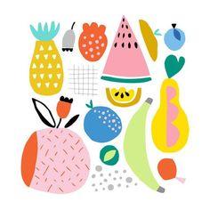 15 Trendy ideas fruit drawing for kids veggies Art And Illustration, Illustration Inspiration, Pattern Illustration, Food Illustrations, Drawing For Kids, Art For Kids, Fruits Drawing, Fruit Pattern, Fruit Print