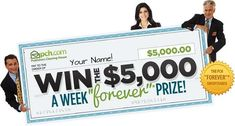 pch 500000 a week forever prize giveaway Instant Win Sweepstakes, Online Sweepstakes, 10 Million Dollars, Win For Life, Prize Giveaway, Winner Announcement, Instant Win Games, Instant Cash, Publisher Clearing House