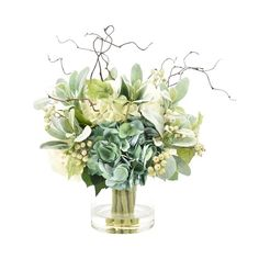 Looking for Hydrangeas Floral Arrangement Glass Vase August Grove ? Check out our picks for the Hydrangeas Floral Arrangement Glass Vase August Grove from the popular stores - all in one. Hydrangea Vase, Peonies Centerpiece, Peonies And Hydrangeas, Artificial Floral Arrangements, Faux Flower Arrangements, Hydrangea Not Blooming, Artificial Hydrangeas, Floral Centerpieces, Vases Decor