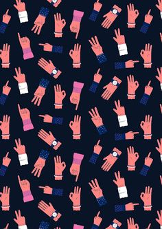 All Hands Pattern By Ana Seixas