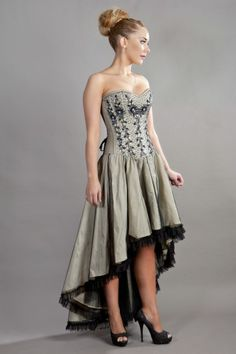 Waltz corset dresses burleska: the home of fine corsetry Dresses Uk, Nice Dresses, Prom Dresses, Corset Dresses, Wedding Dresses, Amazing Dresses, Black Lace Shorts, Pretty Outfits, Pretty Clothes