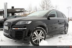 Audi Q7 MLB test mule cold weather testing in Sweden.