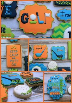 Decorating biscuits for a golf par-tee