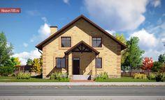 Проект дома C-143 - Проекты домов и коттеджей в Москве House Layouts, Cabin, Mansions, House Styles, Projects, Home Decor, Cottage Style Houses, Log Projects, Blue Prints