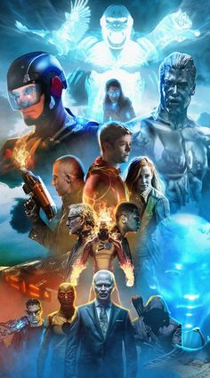 Arrow, The Flash and Supergirl television shows Legends Of Tommorow, Dc Legends Of Tomorrow, Supergirl Dc, Supergirl And Flash, Series Dc, Netflix Series, Series Movies, Flash Wallpaper, Superhero Shows