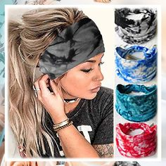(This is an affiliate pin) YBSHIN Boho Wide Headbands Gray Tie Dye Head Scarfs Yoga Sweatbands Hair Wears Elastic Head Wraps Floral Printed Hair Bands for Women and Girls (Style 6) Wide Headband, Headband Styles, Fashion Headbands, Head Scarfs, Hair Bands, Turban, Head Wraps, Girl Fashion, Tie Dye