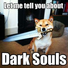 Even the dogs are scary! Rofl Sif companion of Artorias cosplay