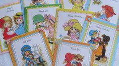 Vintage Homespun Prairie Kids  8 Greeting by beeprettyvintage
