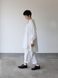 String gather blouse~cotton 2