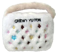 Chewy Vuiton Plush Novelty Purse Dog Toy Small White * You can get more details by clicking on the image. Designer Dog Clothes, Designer Toys, Luxury Designer, Dog Toy Box, Dog Stroller, Puppy Beds, Dog Food Storage, Toy Storage, Toy Puppies