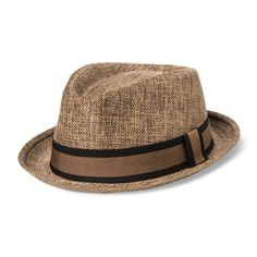 Bioworld Men's Fedora With Band - Brown M/L