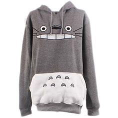 Unisex My Neighbor Totoro Hoodie Sweatshirt Casual Pullover (Asia Size... (31 CAD) ❤ liked on Polyvore featuring tops, hoodies, hooded sweatshirt, hoodie top, unisex tops, pullover hoodie and sweater pullover
