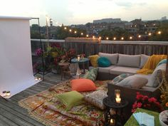 GOALS...an outdoor rooftop movie theatre. I'll take two please :)