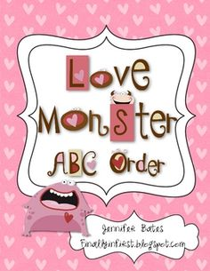 This is an ABC Order activity that would be perfect for literacy centers or small groups around Valentine's Day.Includes:*12 Love Monster ABC...