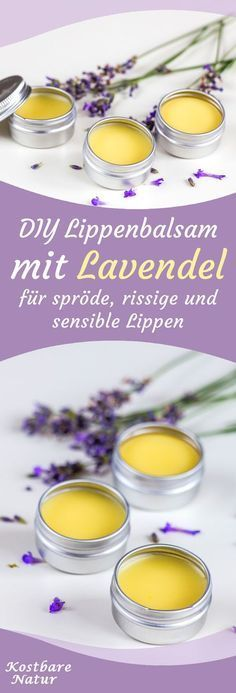 Lavendel-Lippenbalsam - natürliche Pflege und Duft für spröde Lippen Cheap lip balm from the supermarket often contains harmful ingredients and harms more than he uses. The natural alternative is quic Business Makeup, Lip Shapes, Chapped Lips, Natural Lip Balm, Short Nail Designs, Lip Scrubs, Natural Cosmetics, Diy Beauty, Body Care