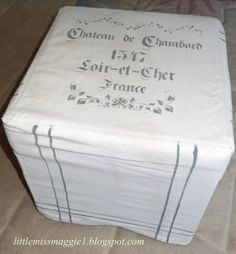 LittleMissMaggie: French Grain Sack Ottoman