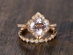 The ring is made to order.I have no any stock yet.----Custom Made----* Ring size:resizable* Metal: solid 14k rose/white/yellow/ gold,solid 18k rose/white/yellow/ gold,----Ring Information----**** Engagement Ring ****Main Stone :* Natural Pink Morganite* 6.5mm Cushion Cut* Approx. gemstone weight: 1.3 caratsSide Stone:* Round Cut SI/H Diamonds* Total diamond weight: 0.16ctMetal: Solid 14k rose/white/yellow/ gold(same price)Band width(bottom) ap...