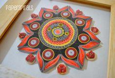Quilled Mandala Art  Paper. Coral Chips. Home by PaperSpirals