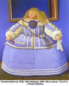 Fernando Botero's Princess Margarita from Las Meninas