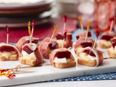 Brie, Cranberry & Prosciutto Bites : Everyone has a soft spot in his or her heart for canned cranberry sauce. Why not find more than one way to enjoy it? These bite-sized appetizers are a great way to give this unsung hero a chance to shine.