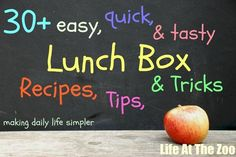 Just in time for school starting up again: Here is a whole list of lunchbox ideas!
