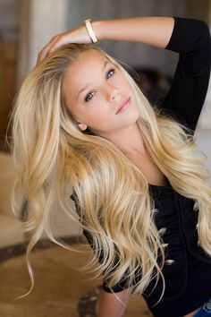 beautiful blonde hair extensions…