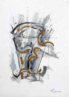 Enzo Cursaro - Carta n°28. 2005-74,2x52 su carta Arches
