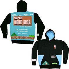 game sweatshirt super mario bros