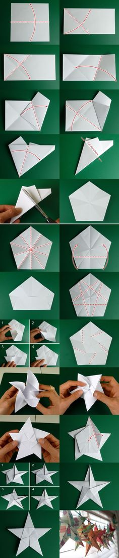 [Christmas Plan of the origami stars] Super advanced version, a little complicated Oh, have considerable patience to complete!  Source http://www.homemade-gifts-made-easy.com/5-pointed-origami-star.html