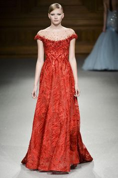 Love the red! Tony Ward Couture.