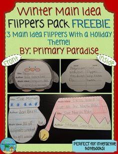Winter Main Idea  Flippers Pack FREEBIE