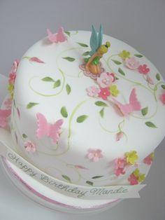 Tinkerbell Cake!!! - hacer las mariposas de gelatina