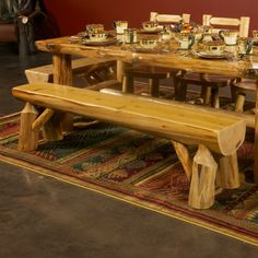 Lake cabins sofa tables and log furniture on pinterest